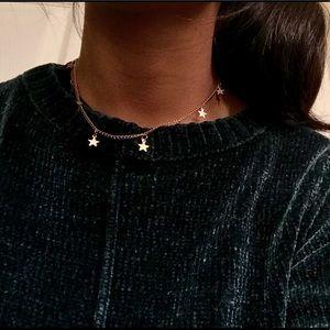 Jewelry - Gold choker Star necklace dainty choker